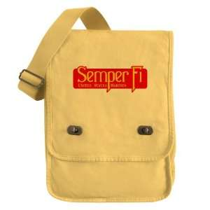 Messenger Field Bag Yellow Semper Fi Marine Corps