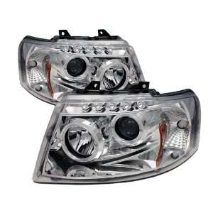 Spyder Auto Ford Expedition Chrome Halogen LED Projector Headlight