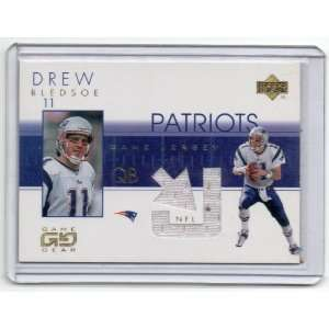 Game Jerseys Drew Bledsoe #DBJ NM MT Jersey Card