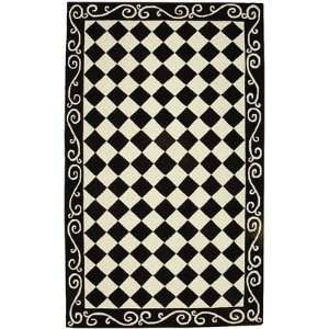 Safavieh Rugs Chelsea Collection HK711A 3R Black/Ivory 3