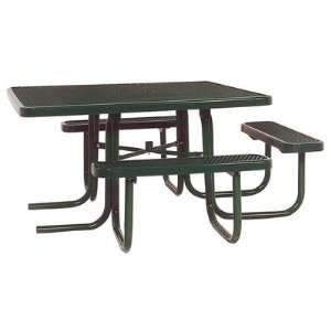Ultra Play P 3 Seat ADA 46 Square Table with Perforated Pattern Frame