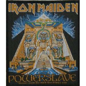 Iron Maiden Powerslave Woven Metal Music Band Patch