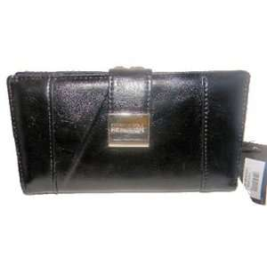 Kenneth Cole Reaction Checkbook Womens Wallet, Black