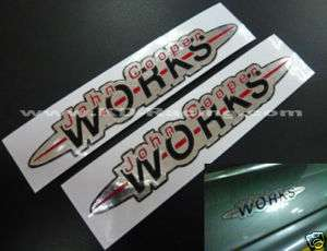 JCW John Cooper Works Decal Sticker Mini S R53 R55 R56