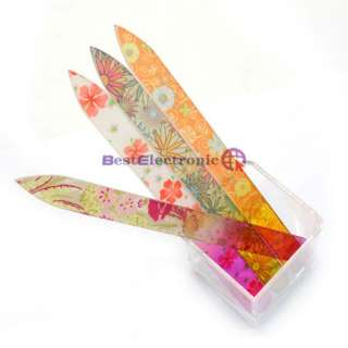 Color 5.5 Crystal Glass Nail File Durable Case Set