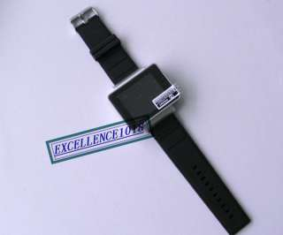 QUAD BAND COOL BLACK TOUCH SCREEN WATCH CELL PHONE  CAMERA WATCH