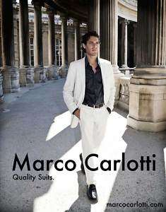 Marco Carlotti Miami Vice Mens White Cotton Suit 40R