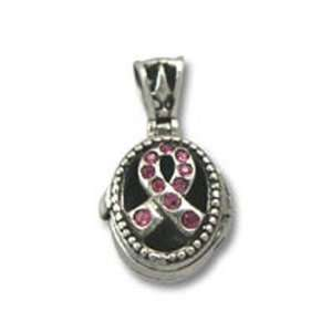 Breast Cancer Awareness Swarovski Crystal Prayer Box
