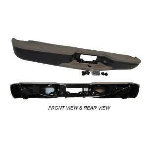 97 02 FORD EXPEDITION STEP BUMPER FULL ASSY PRIMED BLACK WITH TAN PADS
