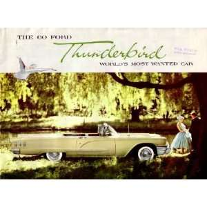 1960 FORD THUNDERBIRD Sales Brochure Literature Book