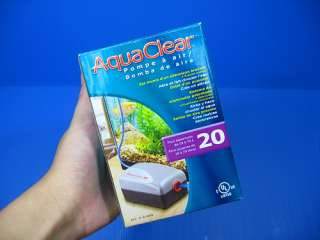 AquaClear #20 Air Pump   Aquarium tank 5 20gal filter