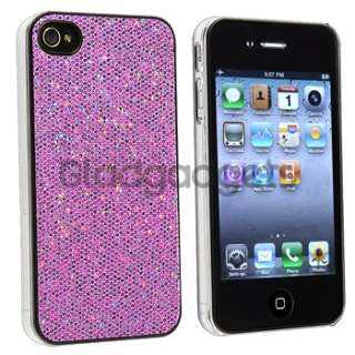 ACCESSORY for Apple iPhone 4S 4 4G BLING CASE+CHARGER+PRIVACY FILM