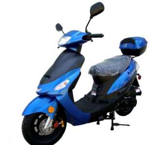 New COOL BLUE 2012 Gas Scooter Moped Bike 49cc Under 50cc With Free