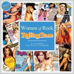 Women of Rock Rolling Stone 2008 Wall Calendar Office