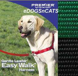 GENTLE LEADER EASY WALK HARNESS DOG GREEN SMALL MEDIUM 759023071480