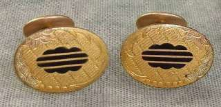 Victorian / Art Nouveau Era Antique Cufflinks Signed GLP CO.