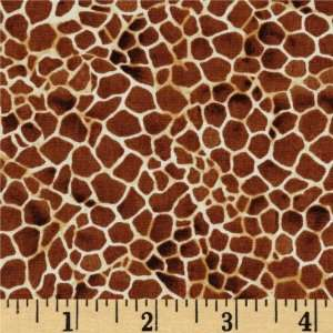 44 Wide Safari Giraffe Brown Fabric By The Yard Arts