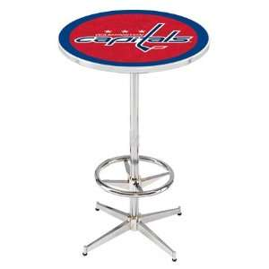 36 Washington Capitals Counter Height Pub Table   Chrome