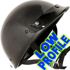 ULTRA SLIM LOW PROFILE DOT Motorcycle Half Helmet GLOSS BLACK Outlaw