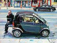 Mercedes Benz Smart Car Montreal Painting Original Art