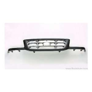 FORD TRUCK RANGER Grille assy w/bright bars; blackpaint to