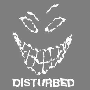 DISTURBED (WHITE) DECAL STICKER WINDOW CAR TRUCK TRAILER Automotive