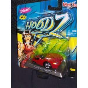Maisto Hoodz Die Cast Ford Mustang SVT RED Toys & Games
