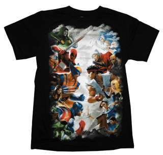 Marvel Vs Capcom 3 Fighter Duel Comics Video Game T Shirt Tee