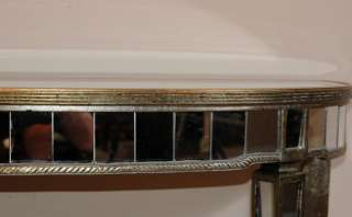 Art deco mirrored console table demi lune tables