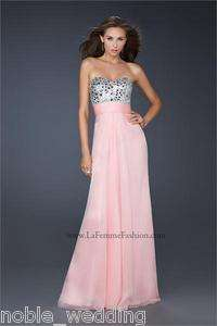 2012 Elegant Long Strapless Chiffon Prom Evening Gown Party Dress Ball