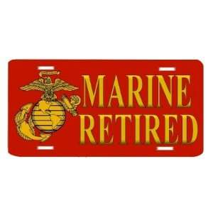 US Marine Corps Retired USMC Auto Vanity Front License