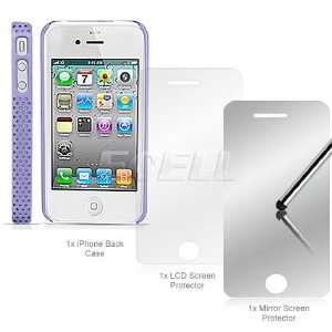 Ecell   PURPLE PERFORATED MESH CASE LCD PROTECTOR FOR