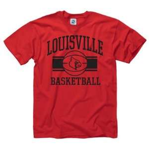 Cardinals Red Wide Stripe Basketball T Shirt