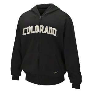 Black Nike Classic Arch Full Zip Hooded Sweatshirt
