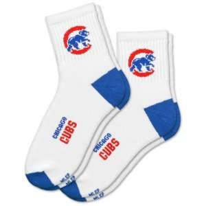 MLB Chicago Cubs Mens Quarter Socks (2 Pack) Sports