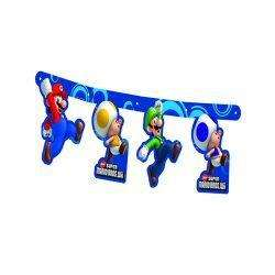 Super Mario Bros Wii Party Birthday Jointed Banner £3.49
