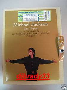JACKSON MEMORIAL FUNERAL PROGRAM PACKAGE WITH TICKET BEWARE FAKES