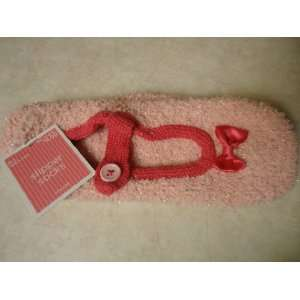 Light Pink Micro fiber soft Mary Jane Slipper Socks