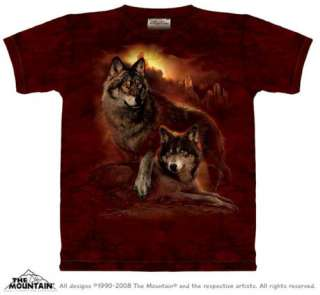 Wolf Sunset Adult T Shirt by The Mountain