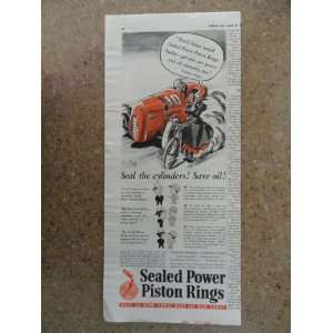 Sealed Power Piston Rings,Vintage 40s print ad (Granny O