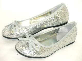 Glitter Sparkle Girls Kids Ballet Flats*Casual or Pageant Dress Shoes