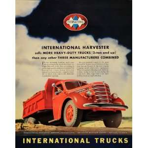1939 Ad International Harvester Trucks Red Heavy Duty   Original Print