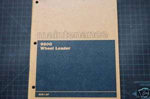 CAT Caterpillar 980C Wheel Loader Maintenance Manual