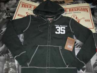 TRUE RELIGION MEN HOODIE JACKET $200 SMALL100%AUTHENTIC
