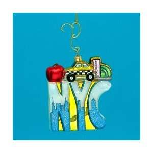 New York City, The Big Apple Glass Christmas Ornaments