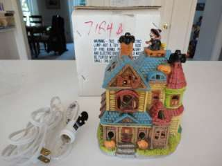 Village HALLOWEEN Witch on Roof RARE NM/Mint 6 Haunted House
