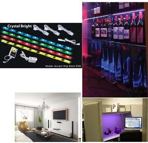 NEW AMERICAN DJ ACCENT STRIP BLACK RGB COLOR LED Light