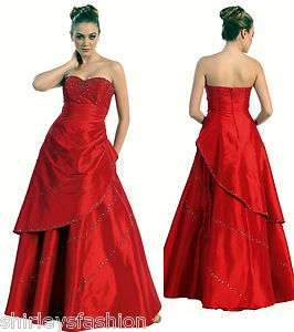 Long Strapless Formal Evening Prom Dress Gown plus sizes available XS