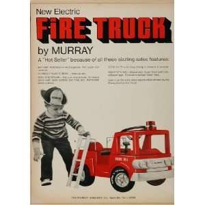 1971 Ad Electric Fire Truck Engine Murray Riding Toy   Original Print