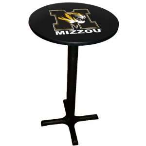 Missouri Tigers College Laminated Pub Table w/black trim